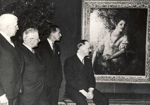 Schön L To R: Edgar B. Whitcomb, Albert Kahn, Edsel B. Ford And. Dr. Wilhelm  Valentiner, April 1935, At The Detroit Institute Of Arts
